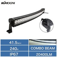 led lamp truck - 41 quot W Double Row Curved LED Drving Light Work Lamp Bar Flood Spot Combo Beam Off road High Power for Car SUV Truck Boating K1942