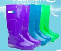 wellies - Women glossy Rain Boots Waterproof Wellies Boots Rain Boots High Boot Rainboots Hot SaleOutdoor waterproof anti skid boots