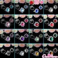 Wholesale Teal Blue High Quality Diamond Napkin Ring Serviette Holder for Wedding Banquet Bridal Dinner Table Decoration