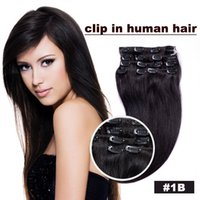 Wholesale 100 Remy Human Hair Clip In Hair Extensions Full Head Set multiply Colors