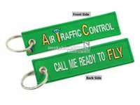 air atc - gift paper bags with handles Creative Green ATC Key Chain quot Air Traffic Control Call me Ready to Fly quot Best
