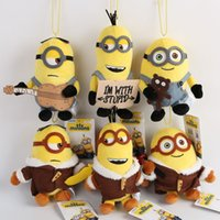 Wholesale Minions movie Thief Daddy little yellow people new plush cloth doll cartoon backpack hanging ornaments