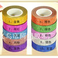 Single-Sided adhesive masking paper - Hot sales M Glitter Washi Sticky Paper Masking Adhesive Tape Label Craft Decorative DIY