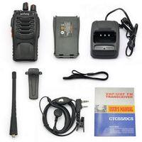 Wholesale Hot set for Pofung BF S UHF MHz Handheld Walkie Talkie way Amature Ham Radio US Plug High Quality