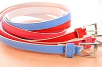 Wholesale 2014 Brand Design Korean Fashion Elegant Simple Sweet Candy Colors Charm PU Leather Belt Girl Women Hot sale