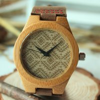 anniversary gift calendar - Brown Leather Watches for Men Mens watches Wood Watch Groomsmen gift Wedding Gift Anniversary Gifts for Men Wooden Watch