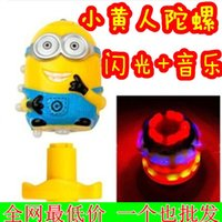 Wholesale Despicable Me Colorful flash gyro gyro small yellow people gyro electric toy stall selling
