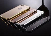 aviation covers - Luxury New Style Aviation Aluminum Alloy K Electroplating Plating Mirror Metal Phone Cases Cover For iphone S plus