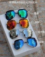 alloy returns - MOQ summer brand women and men Grey ants sunglasses polygon Metal sunglasses return to the ancients sunglasses colors