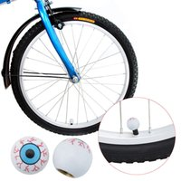 Valve Balls - 2pcs Plastic Eye Ball Road Bicycle Valve Cap Bike Wheel Valve Cap Motor Car Valve Mouth Cover Tyre Air Valve Dust Cap Y0641