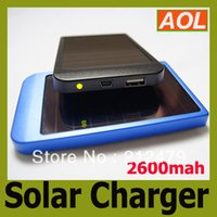 Wholesale DHL high quality full power mah solar panel charger External Battery for all phone MP3 MP4 Solar Charger