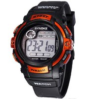 Wholesale 2014 Wrist Watches Men Orange colour watches LED Watches Digital Sports Watches Waterproof Mix Colors