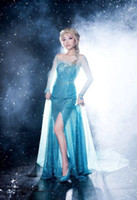 Wholesale Fashion dresses for girls teenagers adults party costume New Blue Princess Costume Cosplay hand made Women Lady Tulle Elsa Dress TQ39