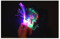 Wholesale Led Lighted Toys Flash The Peacock Flashlight LED Mitts Ring Children Gift Party Prop Supply