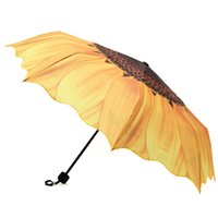 best outdoor umbrellas - Best Price Best Promotion Lasy Girl Women Portable Sunflower Folding Travel Rain Parasol Umbrella Fit For Outdoor