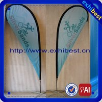 Wholesale Double side printing of teardrop outside promotion flag advertising banner m pole M