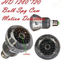 Wholesale NEW Night Vision Bulb Spy Camera T8 H CCTV Security DVR Motion Detection HD Bulb Video Camera Mini Hidden DV