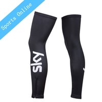 Wholesale NEW team sky Summer Sunscreen Mountain Bike Cycling Leg Sleeve knee warmer MTB Ciclismo Bicycle Cycling Leg Warmers Black pair
