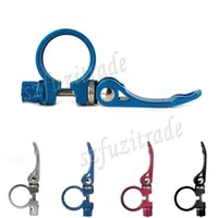 Wholesale High Quality Road Bike Aluminum Quick Release Seatpost Clamps Mountain Bicycle Seat Post Clamp mm ACA00275