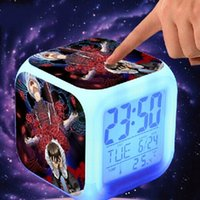 Wholesale Novelty Christmas Gifts Anime Tokyo Ghoul Glowing LED Colorful Change Digital Alarm Clock Night Light For Kids Birthday Gift