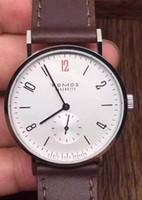 Wholesale Nomos Mechanical Watches Men Red Hand Wristwatch Sea gull Movement Top Quality