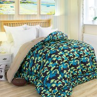 Wholesale High Quality Winter Patchwork Quilt Thick Comforter Printed Bed Quilts Soft Duvet Home Textile Bedding X210CM