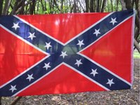 Wholesale The Truth About the Confederate Battle Flags Two Sides Printed Flag Confederate Rebel Civil War Flag National Polyester Flags icehut