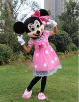 2015 New Mickey y Minnie Mouse de la mascota del traje de la venta para el envío de Navidad Mardi Gras / Carnival gratuito