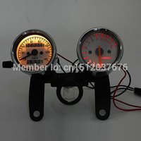 Wholesale High Quality Universal Motorcycle Odometer Tachometer Speedometer Gauge With Black Bracket