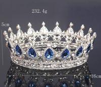 10k gold jewelry - 2015 Wedding Hair Accessories Bridal Baroque Tiara Vintage Bridal Wedding Jewelry Shining Rhinestone Crown