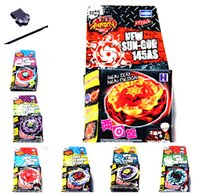 beyblade stickers - 8pcs Beyblade Launcher METAL FIGHT BEYBLADE BB74 BB55 BB50 WITH STICKER TOOL