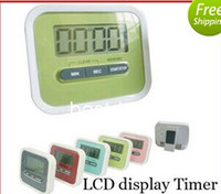 alarm magnets - 7026 Christmas Gift Digital Kitchen Count Down Up LCD display Timer clock Alarm with magnet stand clip
