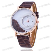 Wholesale LS fashion trend rose Jinshui leather watch crystal sand drill watch student table GONGCHANG