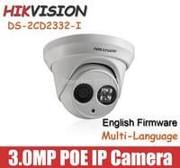 indoor mini dome ip camera - 2 mm mm lens Hikvision MP mini Dome IP Camera network CCTV camera DS CD2332 I POE indoor camera Onvif Array leds English version