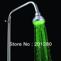 Cheap 20pcs 360 degree Adjustable 7 Color Change LED Light Bathroom Overhead Automatic Shower Head Faucet Colorful Free Shipping DHL