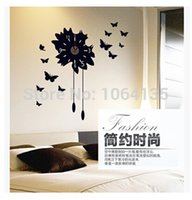 Wholesale creative fashion living room bedroom wall stickers wall clock modern personality Art Silent wall stickers Clock