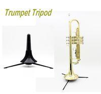 Wholesale High Quality Trumpet Tripod Holder Stand Portable Foldable Metal Leg Detachable Trumpet Tripod Brass Instruments Accessories
