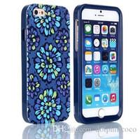 3 en 1 caja del teléfono móvil Caso Vera Moda Marca Flor de plástico Shell trasero duro para el iPhone 6 6 Plus