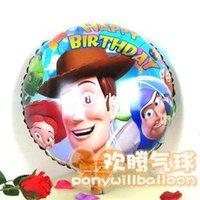 balloon stories - 50pcs alumnum balloons Festival party supplies Toy Story cartoon foil balloon inch round helium balloons birthday holiday decorated alumi