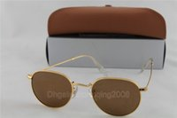 cycling glasses - 1pcs New Top Fishing Glasses gold Frame brown Sunglasses Men Women Brand Designer Sport Cycling Glasses Oculos De Sol