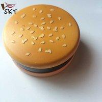 alloy biscuits - SKY Fashion layer parts grinder mini Hamburger biscuit zinc alloy metal herb grinder smoking tobacco grinder crusher Wholesae MMY
