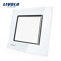 Wholesale Manufacturer Livolo Luxury white crystal glass panel Push button switch smart home VL C7K1 Energy conservation and environmental