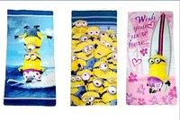 Wholesale 2015 New cm Despicable Me bath Minions cotton floral printed towels bathroom children beach towel kids bath towel styles V287