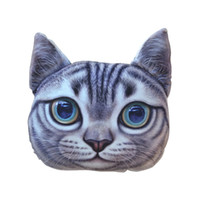 pillow cover - Creative Handsome Cat Shape Nap Pillow Cover Hot Sale Cartoon Chair Pillow Personality Car Cushion Cover Cute Seat Cushion