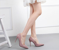 red sole shoes - 2015 autumn Four seasons nude color sheepskin red sole shoes pointed toe water high heeled shoes women s wedding single shoes