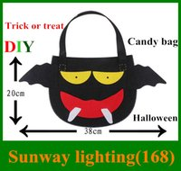 Wholesale Halloween props DIY children pumpkin candy bag Free cutting DIY environmentally friendly non woven material simple piece together