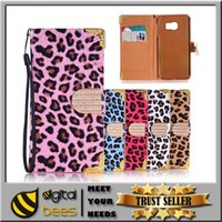 metal leopard - Leopard wallet pu leather cover case for I phone plus card Luxury Bling Diamond Glitter Flip Leather Case