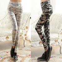 Wholesale Snakeskin Leather Leggings - New 2016 Women Snakeskin Grain Stripe copy Leather Leggings Autumn Fashion Girls Sexy Army Leggings Patterned Tights Leggings ZJ16-L06
