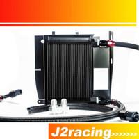 Wholesale J2 RACING STORE BLACK OIL COOLER KIT FOR BMW E36 E46 NEW OIL COOLER KITS E36 PQY5129BK
