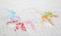 acrylic sheet products - 100pcs Diy handmade finished products bead sheet flower acrylic imitation crystal diy small hair accessory wedding decoration